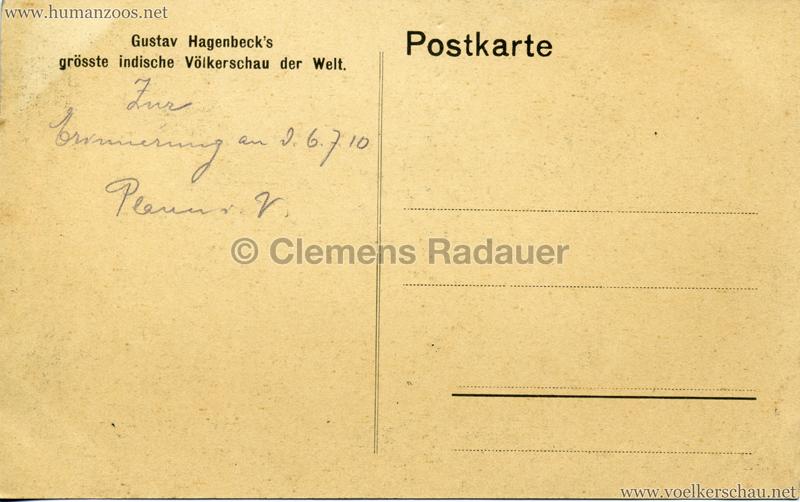 1910:1911:1912 Gustav Hagenbeck's grösste indische Völkerschau der Welt - Elefanten RS