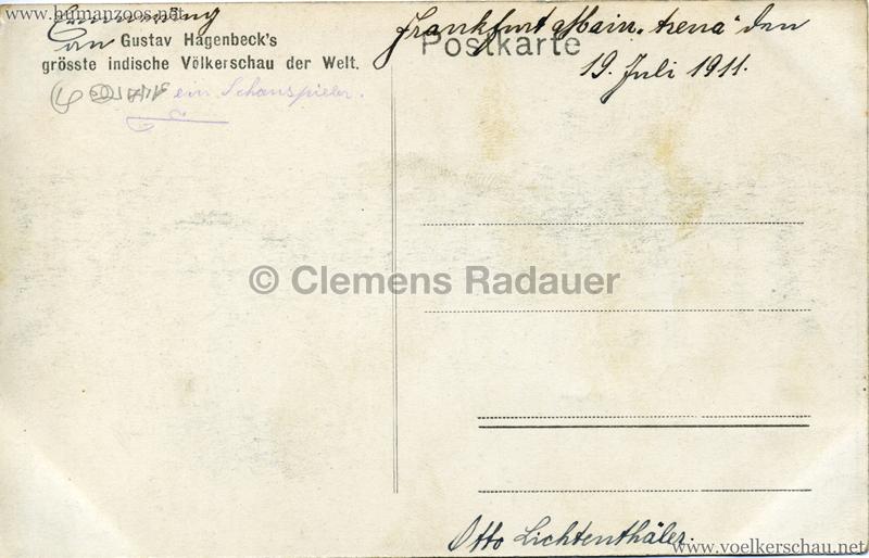 1910:1911:1912 Gustav Hagenbeck's grösste indische Völkerschau der Welt - Lehrer mit Schülern 2 RS