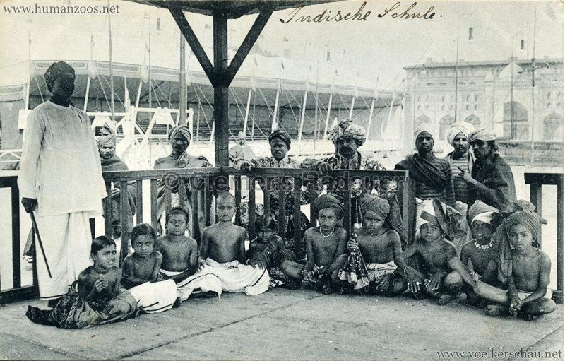 1910:1911:1912 Gustav Hagenbeck's grösste indische Völkerschau der Welt - Lehrer mit Schülern 2 VS