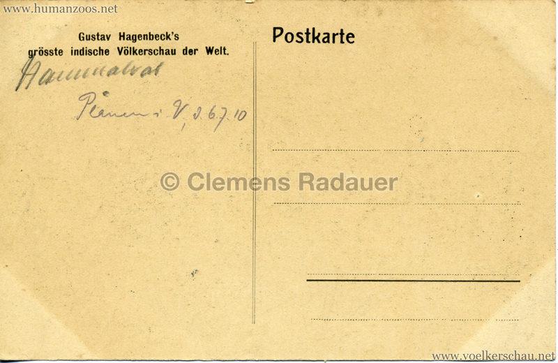 1910:1911:1912 Gustav Hagenbeck's grösste indische Völkerschau der Welt - Rickshas 3 RS