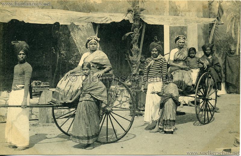 1910:1911:1912 Gustav Hagenbeck's grösste indische Völkerschau der Welt - Rickshas 3 VS