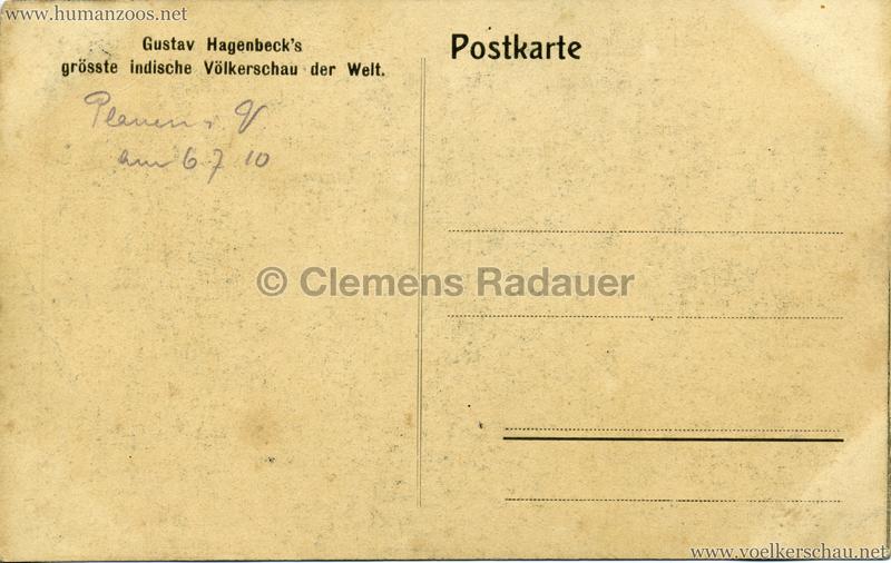 1910:1911:1912 Gustav Hagenbeck's grösste indische Völkerschau der Welt - Stabartisten RS