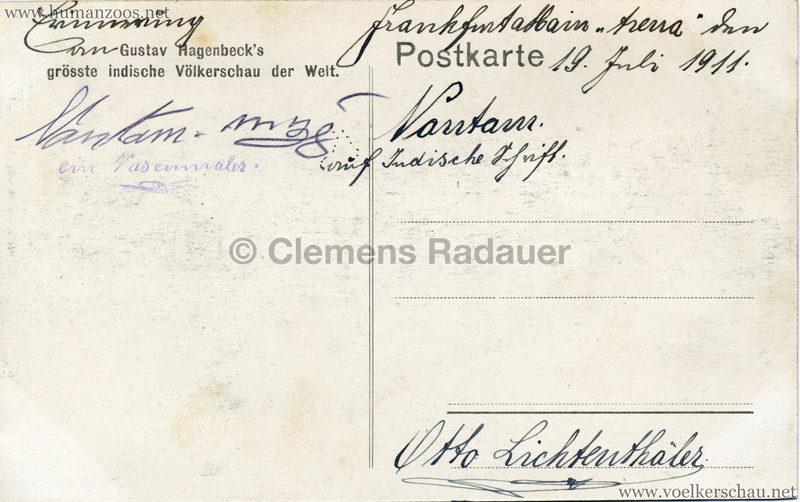 1910:1911:1912 Gustav Hagenbeck's größte Indische Völkerschau der Welt - Akrobaten RS