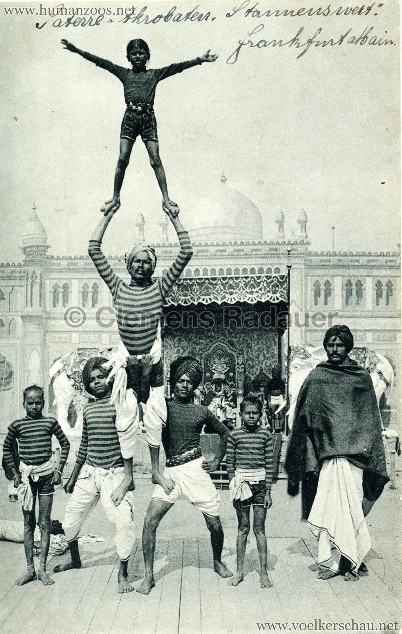 1911:1912 Gustav Hagenbeck's größte Indische Völkerschau der Welt - Akrobaten VS