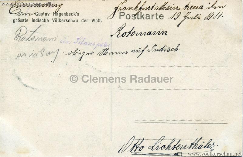 1910:1911:1912 Gustav Hagenbeck's größte Indische Völkerschau der Welt - Bäredressur RS