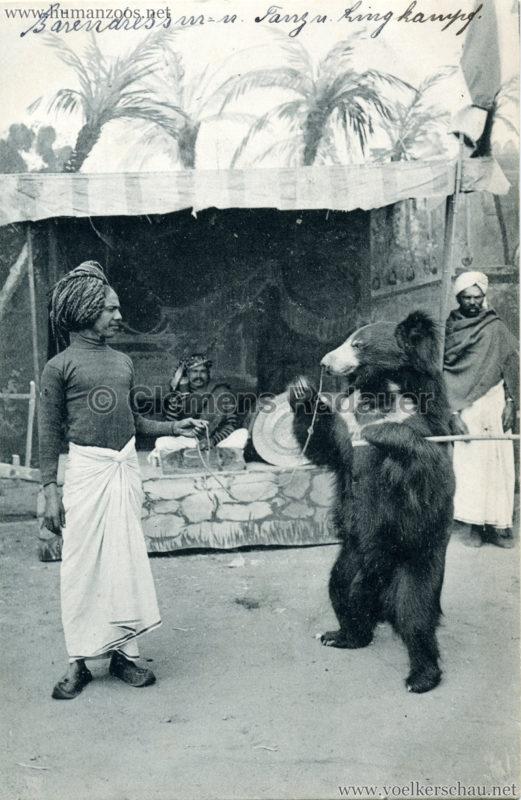 1910:1911:1912 Gustav Hagenbeck's größte Indische Völkerschau der Welt - Bäredressur VS