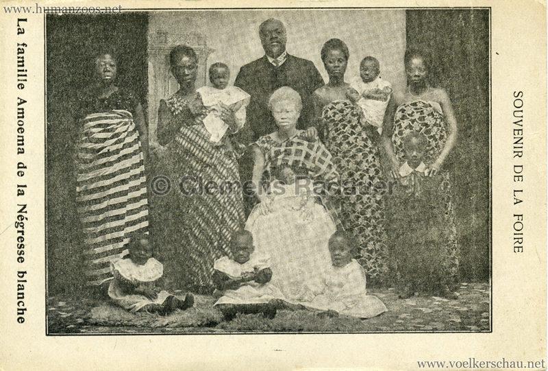 La famille Amoema de la Negresse blanche - Souvenir de la Foire