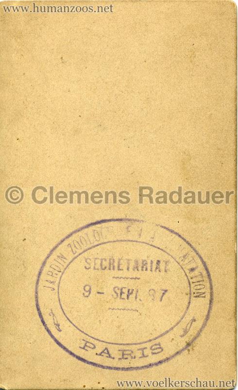 1887 Achantis - Paris Jardin d'Acclimatation CDV RS