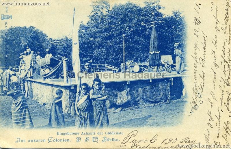 1896:1897:1898 (?) Eingeborene Achanti der Goldküste