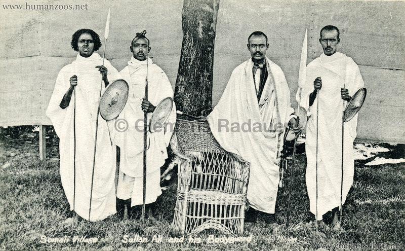 1904 Bradford Exhibition - Somali Village. Sultan Ali and his Bodyguard