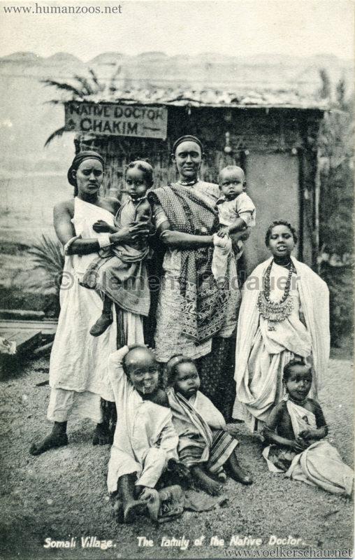 1904 Bradford Exhibition - Somali Village. The family of the Native Doctor 1 2