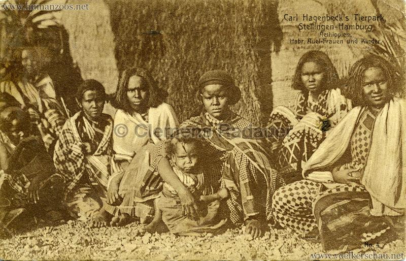 1909 Hagenbeck Aethiopien - 4. Habr Auel-Frauen und Kinder