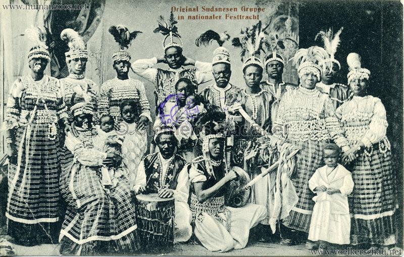 1911 Original Sudanesen Gruppe in nationaler Tracht 2 VS