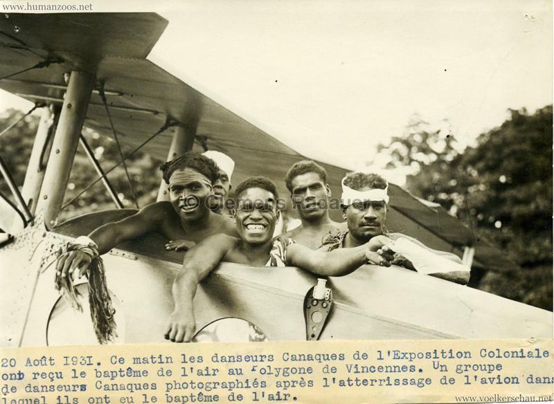 1931 Exposition Coloniale Internationale Paris - PRESSEFOTO Danseurs Canaques VS
