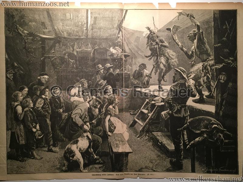 1877 Über Land und Meer Nr. 22 - Schaustellung wilder Indianer