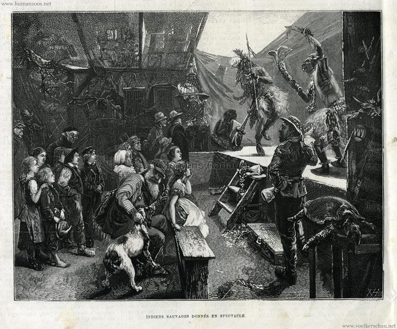 1877.03.31 L'Illustration Européenne - Indiens Sauvages données en spectacle