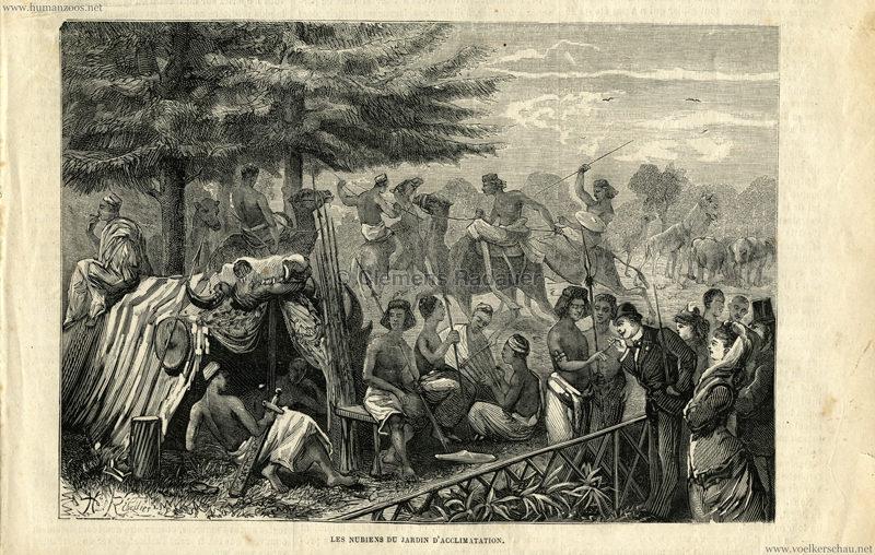 1877.08.11 La Chasse Illustrée - Les Nubiens du Jardin d'Acclimatation 1