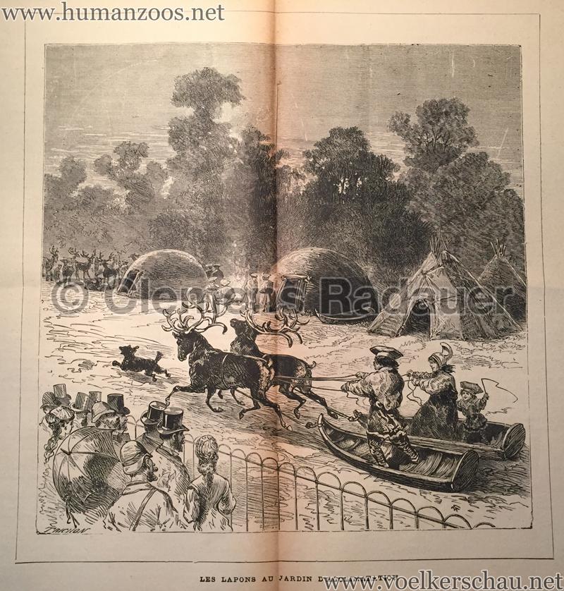 1878 les lapons au jardin d acclimatation human zoos for Au jardin d acclimatation