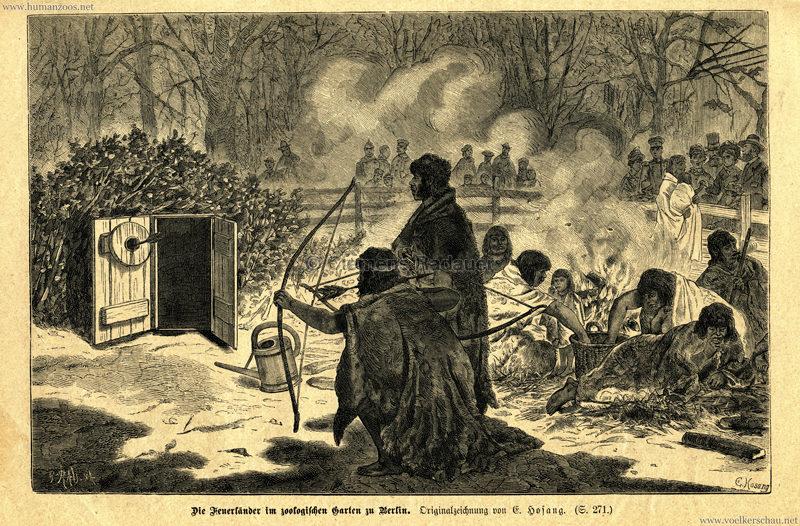 1882 Die Feuerländer im zoologischen Garten zu Berlin