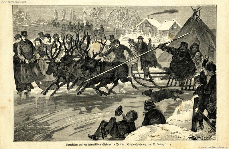 1883 Nr. 20 - Ueber Land und Meer - Samojeden auf der schwedischen Eisbahn in Berlin 1