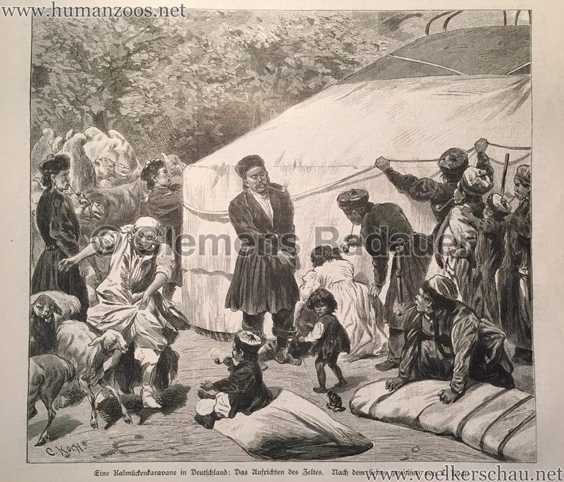 1883.09.08 Illustrirte Zeitung Nr 2097 - Eine Kalmückenkarawane in Deutschland 1