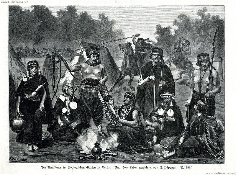 1883.10.27 Illustrirte Zeitung Nr. 2104 - Die Araukaner im Zoo Berlin 1