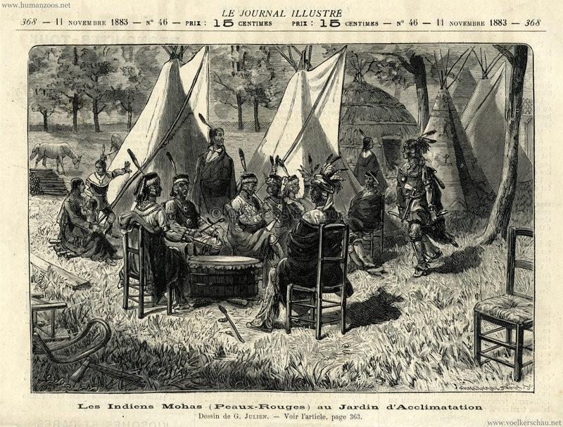 1883.11.11 - Le Journal Illustré No. 46 - Les Indiens Mohas au Jardin d'Acclimatation