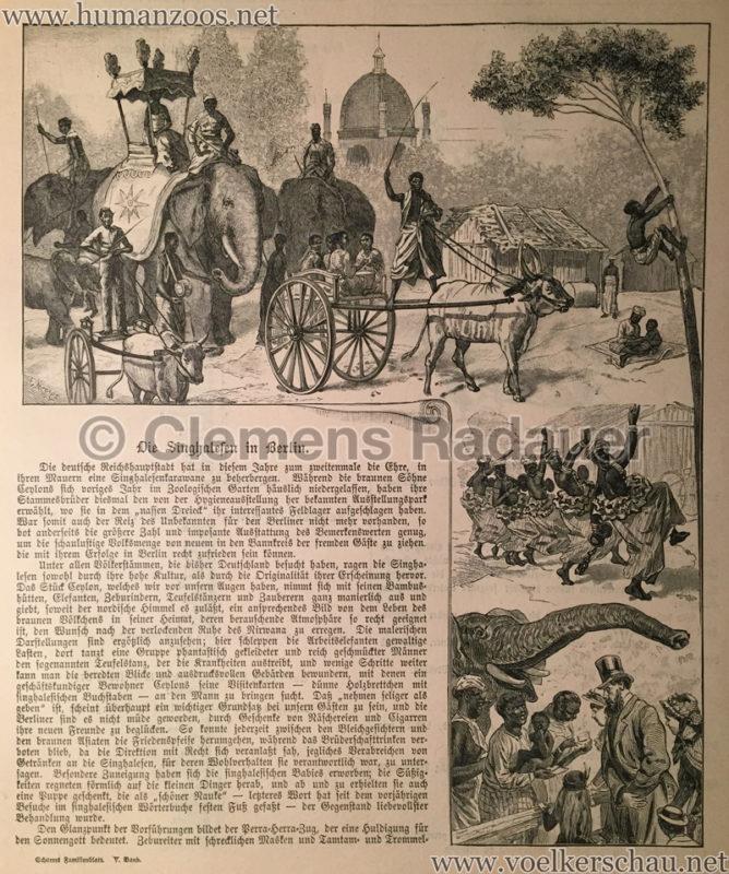 1884 - Schorers Familienblatt Nr 39. - Die Singhalesen in Berlin