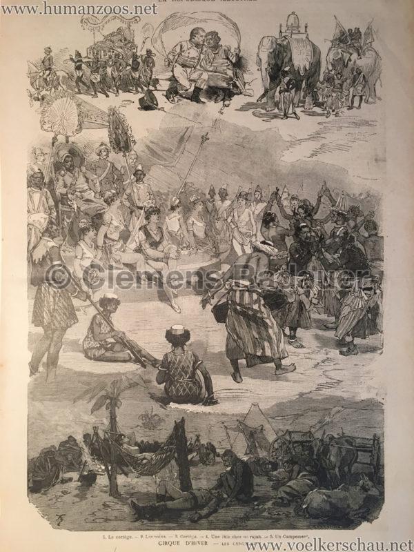 1887 La Republique Illustrée - Cirque d'Hiver - Les Ceylanais