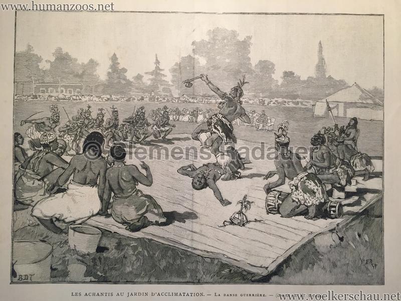 1887 achantis jardin d acclimatation human zoos for Au jardin d acclimatation