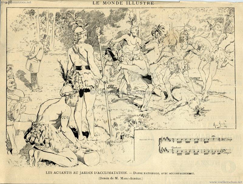 1887.09.01. Le Monde Illustre - Les Achantis au Jardin d'Acclimatation