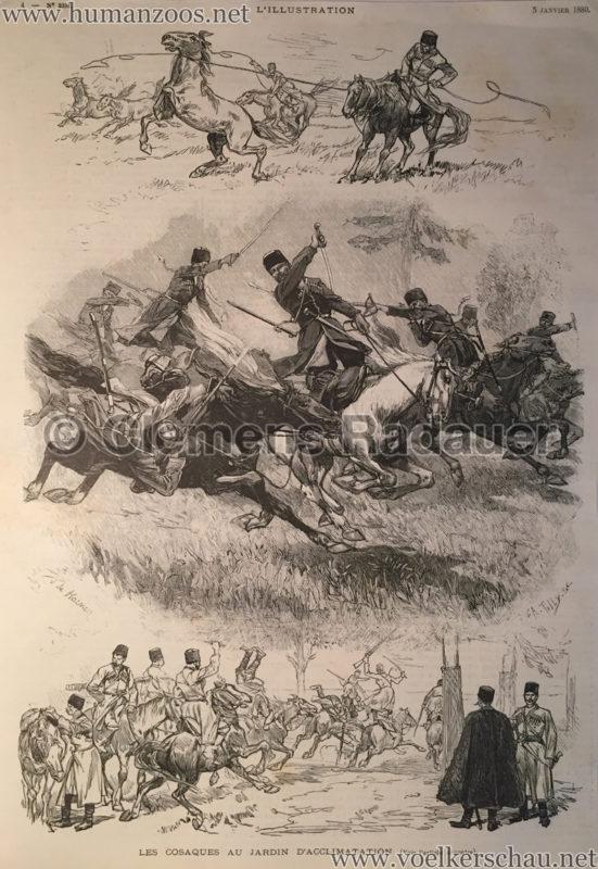 1889.01.05 L'Illustration - Les Cosaques au Jardin d'Acclimatation