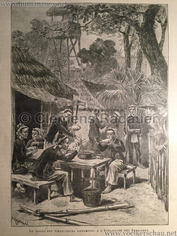 1889.08.24 L'Exposition de Paris - Le Repas ds Tirailleurs Annamites