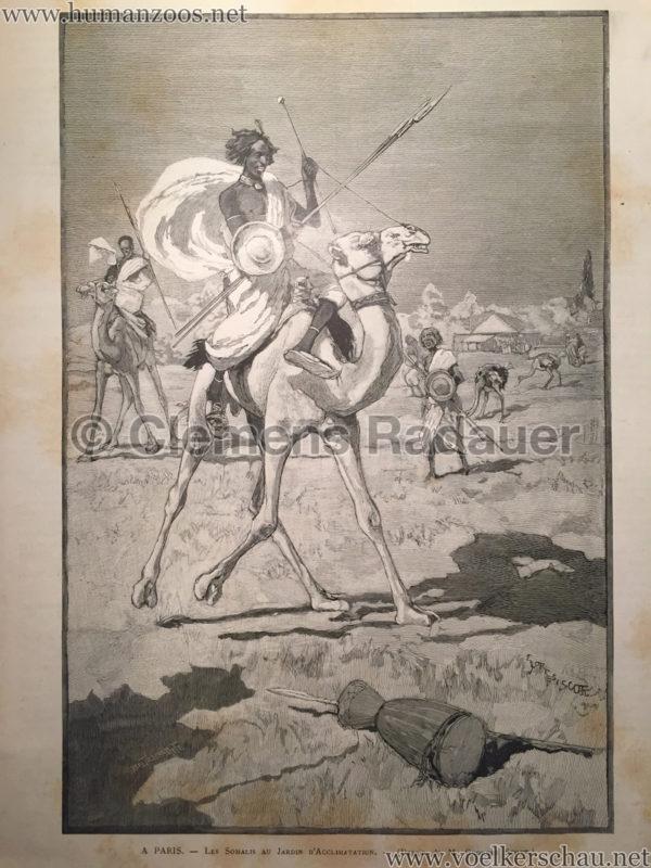 1890.08.23 Le Monde Illustré - A Paris - Les Somalis au Jardin d'Acclimatation