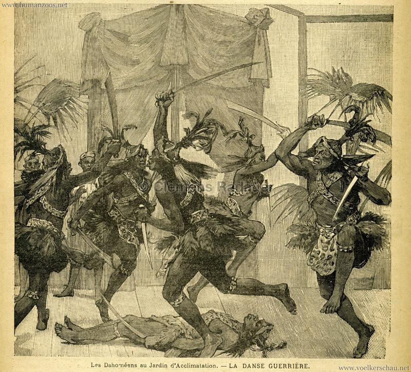 1891.02.26 Le Voleur Illustré - Dahoméens au Jardin d'Acclimatation Bild