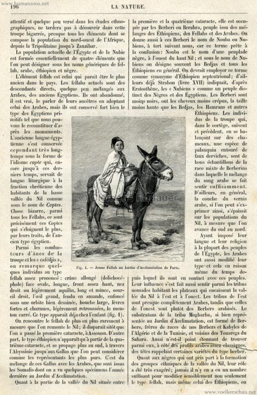 1891.08.29 La Nature - La Caravane Égyptienne au Jardin d'Acclimatation de Paris 2