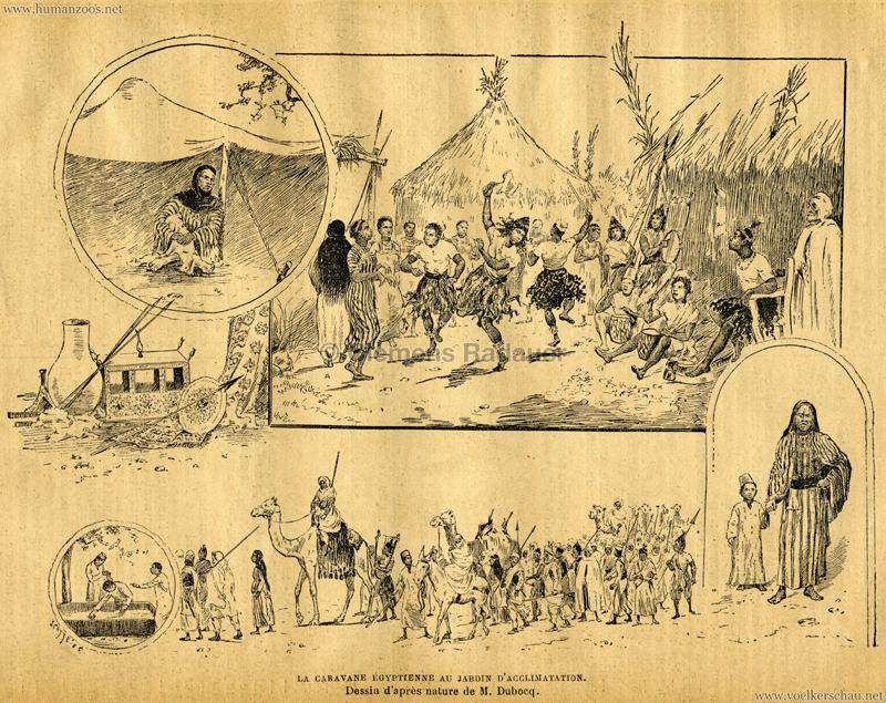 1891.09.03 Le Voleur Illustré - La Caravane Égyptienne au Jardin d'Acclimatation Bild