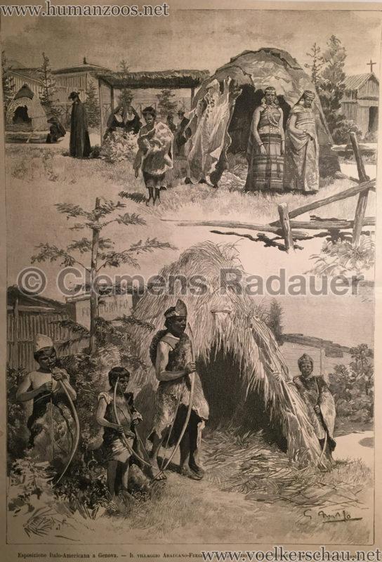 1892 Esposizione Italo-Americano Genova - Villaggio Araucano-Fueghino