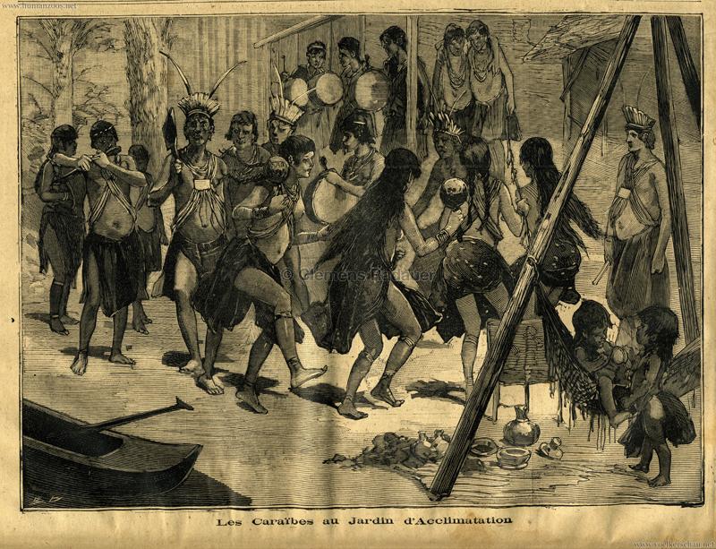 1892.03.13 Le Petit Parisien Les Caraibes au Jardin d'Acclimatation 1