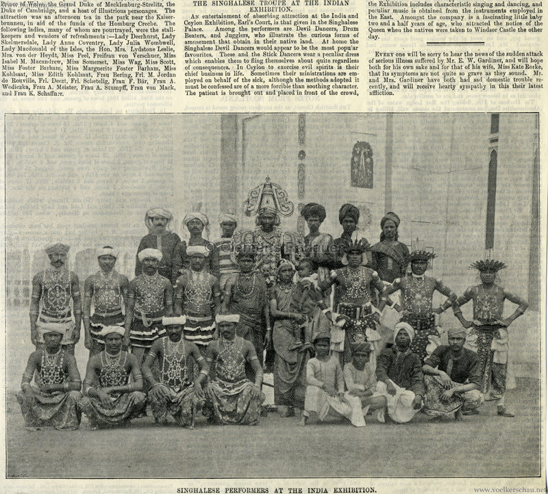 1896 - The Illustrated Sporting & Dramatic News - Indian Exhibition