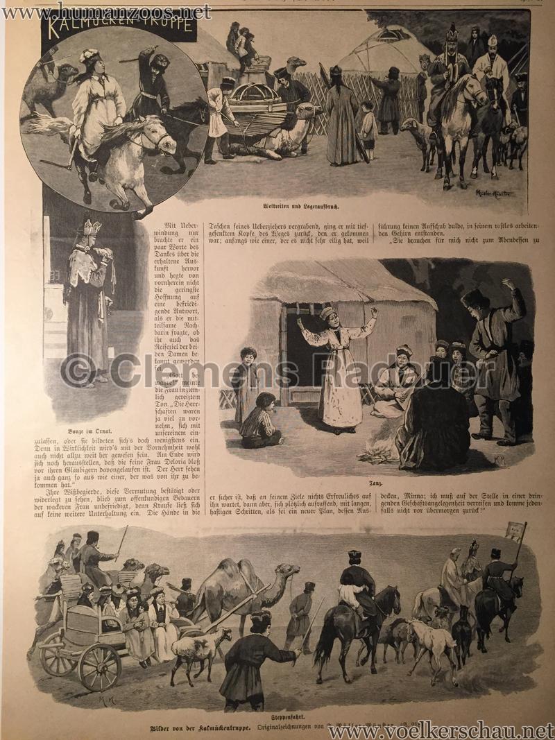 1898 Das Buch für Alle Heft 9 - Eine Kalmückenkarawane in Deutschland S. 216
