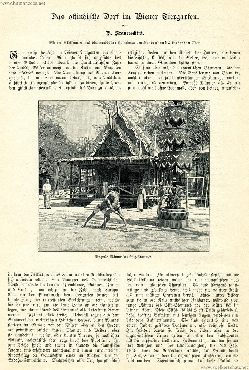 1899 Ostindisches Dorf in Wien
