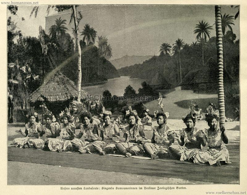 1900 Illustrierte Wochen-Chronik - Samoaner im Berliner Zoologischen Garten - Bild 1