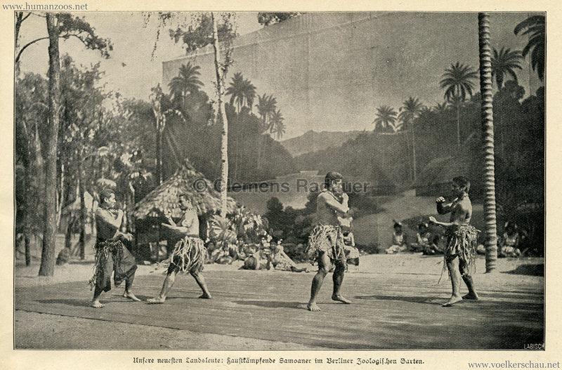 1900 Illustrierte Wochen-Chronik - Samoaner im Berliner Zoologischen Garten - Bild 2