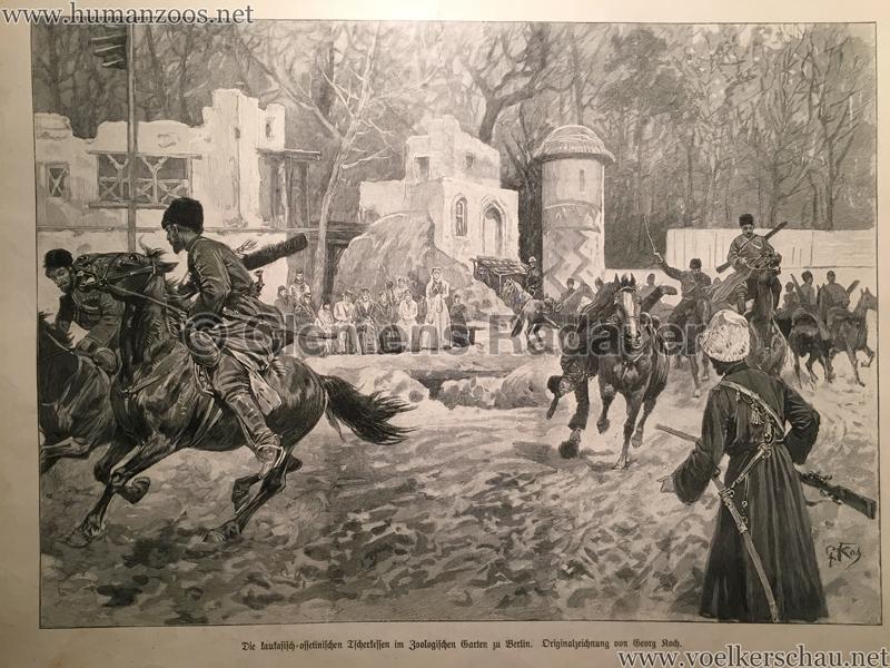 1900.05.03 Illustrirte Zeitung Nr. 2966 - Die kaukasisch=ossetinischen Tscherkessen im Zoologischen Garten zu Berlin