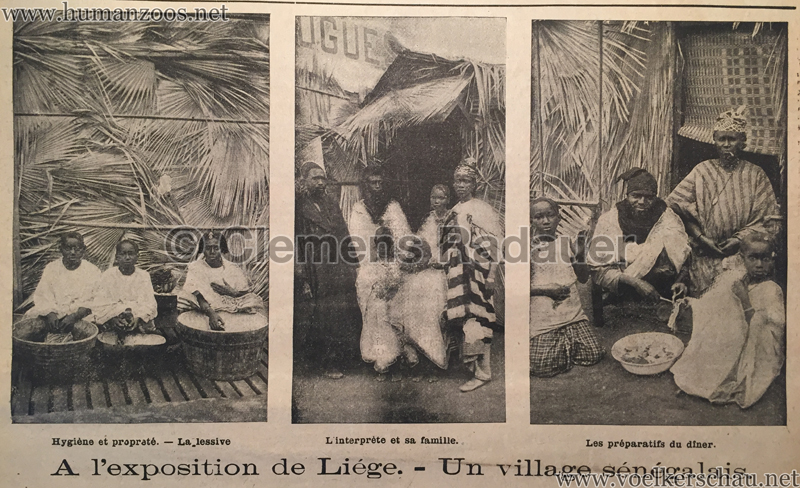 1905.06.11 Le National Illustré - Village Sénégalais à l'Exposition de Liége D1