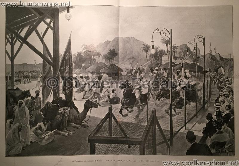 1906 L'Illustrazione Italiana - Esposizione Internazionale di Milano - Villaggio Eritreo