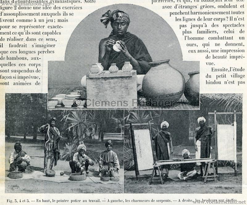 1906.09.01 La Nature - Une caravane hindoue au Jardin d'Acclimatation Fig. 3,4,5