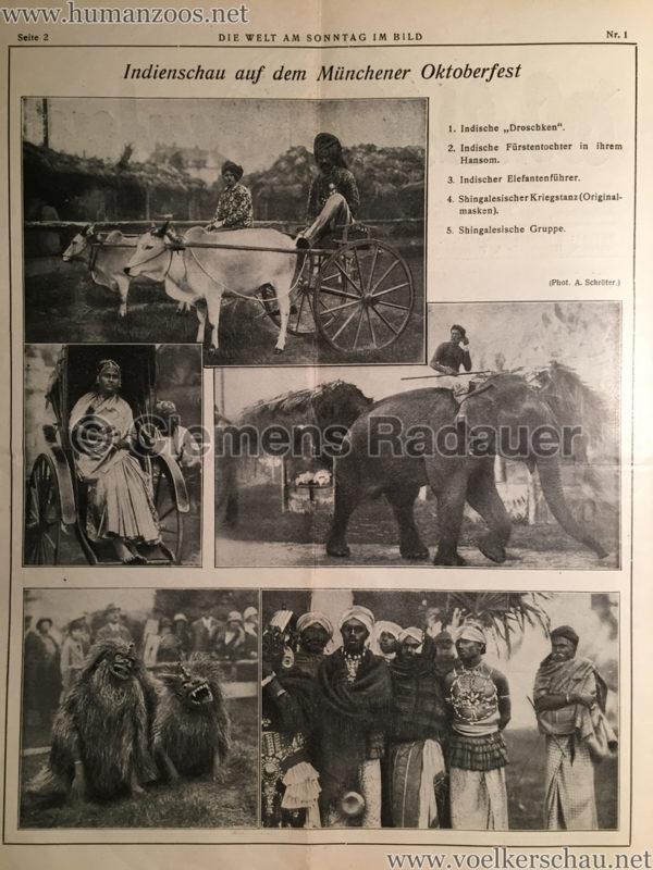1925.10.04 Die Welt am Sonntag im Bild - Indienschau am Oktoberfest