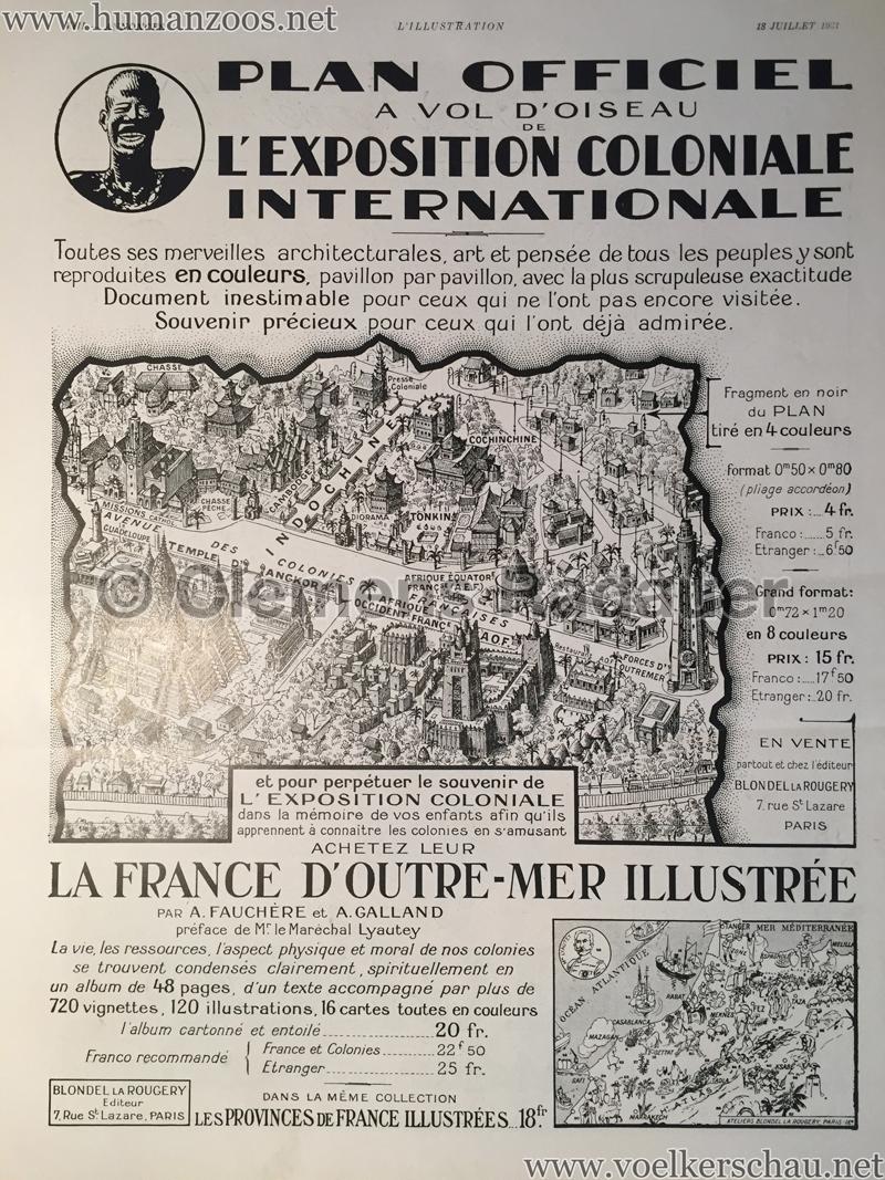 1931.07.18 L'Illustration - Plan Officiel de l'Exposition Coloniale